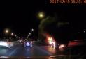 今天早晨,北五环多路段事故,有卡车着火!