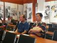 陈显文国画班师生作品展今天在望京为民服务中心展厅开幕