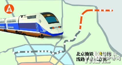 北京地铁十五号线线路平面示意图-地铁15号线顺义段昨开工 2011年底图片