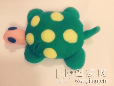 彩泥做的小乌龟