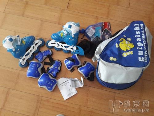 转95新儿童轮滑鞋+全部护具,包 - 二手市场 望京跳蚤