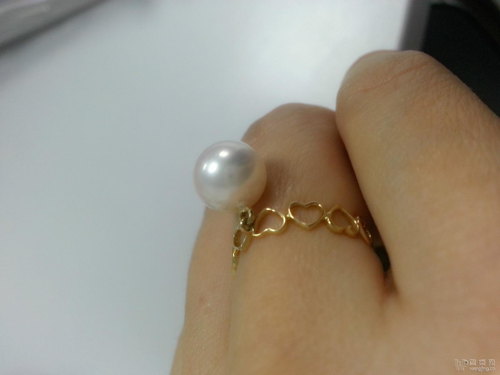 全新日本akoyo珍珠戒指