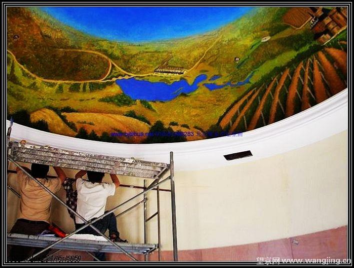 北京悦家手绘壁画承接油画,酒店配画,手绘壁画,手绘设计等业务
